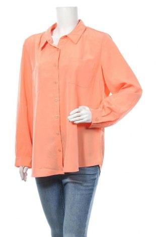Γυναικείο πουκάμισο Suzanne Grae, Μέγεθος XXL, Χρώμα Πορτοκαλί, Πολυεστέρας, Τιμή 3,27€