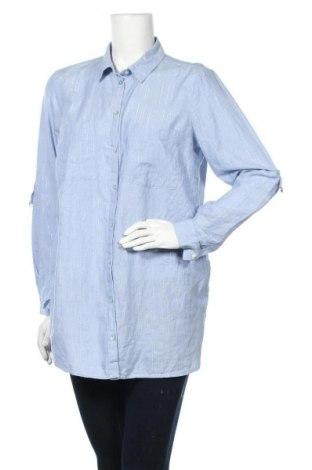 Γυναικείο πουκάμισο Tom Tailor, Μέγεθος M, Χρώμα Μπλέ, 98% βαμβάκι, 2% μεταλλικά νήματα, Τιμή 17,79€