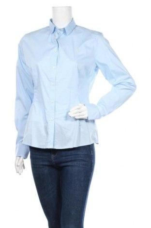 Дамска риза U.S. Polo Assn., Размер L, Цвят Син, 72% памук, 25% полиамид, 3% еластан, Цена 36,96лв.