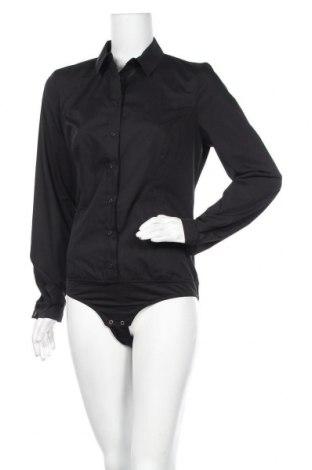 Γυναικείο πουκάμισο-κορμάκι Nife, Μέγεθος L, Χρώμα Μαύρο, 60% βαμβάκι, 40% πολυεστέρας, Τιμή 22,81€