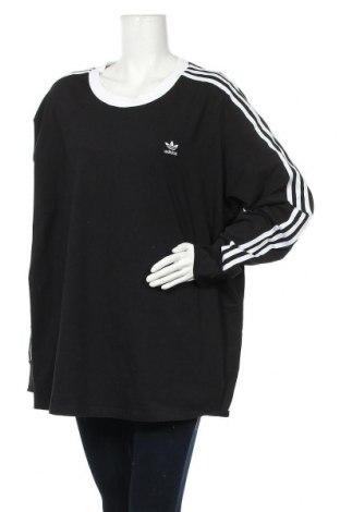 Γυναικεία αθλητική μπλούζα Adidas Originals, Μέγεθος 4XL, Χρώμα Μαύρο, 92% πολυουρεθάνης, 8% ελαστάνη, Τιμή 34,70€