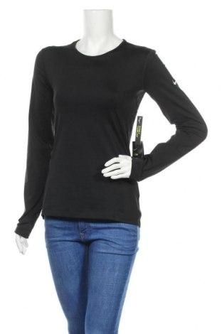 Γυναικεία αθλητική μπλούζα Nike, Μέγεθος M, Χρώμα Μαύρο, 80% πολυεστέρας, 20% ελαστάνη, Τιμή 16,70€