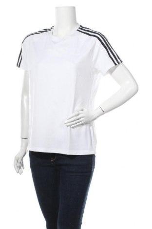 Дамска тениска Adidas, Размер L, Цвят Бял, 88% полиестер, 12% еластан, Цена 51,75лв.