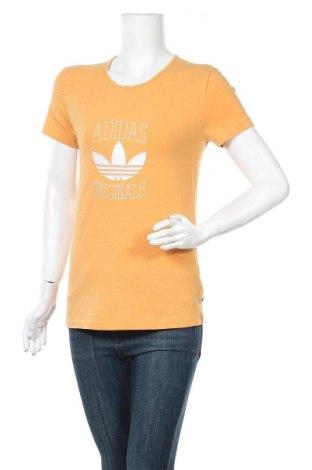Γυναικείο t-shirt Adidas Originals, Μέγεθος M, Χρώμα Πορτοκαλί, 95% βαμβάκι, 5% ελαστάνη, Τιμή 26,68€