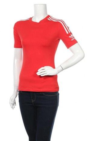 Дамска тениска Adidas Originals, Размер S, Цвят Червен, 92% памук, 8% еластан, Цена 51,75лв.