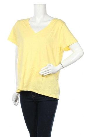 Γυναικείο t-shirt B Collection, Μέγεθος XL, Χρώμα Κίτρινο, Βαμβάκι, Τιμή 9,87€