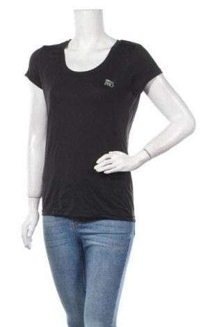Γυναικείο t-shirt Crivit, Μέγεθος M, Χρώμα Μαύρο, 94% πολυεστέρας, 6% ελαστάνη, Τιμή 10,39€
