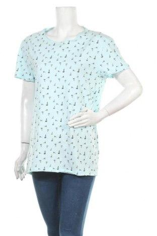 Γυναικείο t-shirt Defacto, Μέγεθος XL, Χρώμα Μπλέ, Βαμβάκι, Τιμή 10,49€