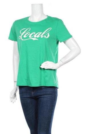 Γυναικείο t-shirt Garcia, Μέγεθος L, Χρώμα Πράσινο, Βαμβάκι, Τιμή 13,07€