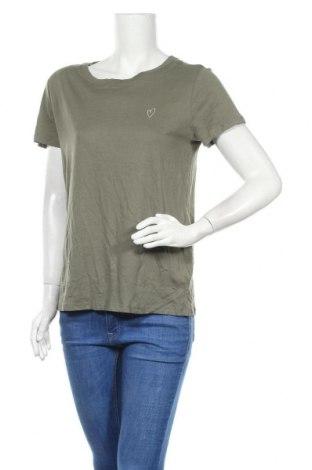Дамска тениска H&M Divided, Размер M, Цвят Зелен, 50% памук, 50% вискоза, Цена 27,93лв.