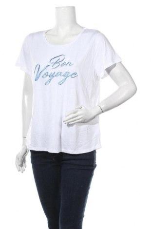 Γυναικείο t-shirt Jeanswest, Μέγεθος XL, Χρώμα Λευκό, 70% βισκόζη, 30% πολυεστέρας, Τιμή 9,87€