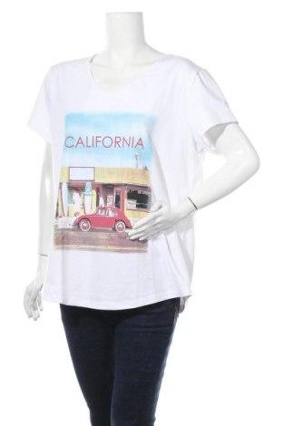 Γυναικείο t-shirt Kangaroos, Μέγεθος XXL, Χρώμα Λευκό, 95% βαμβάκι, 5% ελαστάνη, Τιμή 14,72€