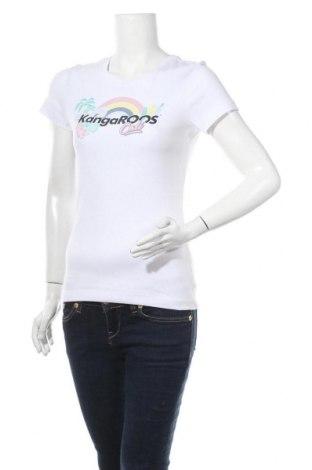 Γυναικείο t-shirt Kangaroos, Μέγεθος S, Χρώμα Λευκό, Βαμβάκι, Τιμή 12,62€