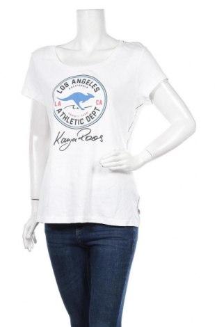 Γυναικείο t-shirt Kangaroos, Μέγεθος XL, Χρώμα Λευκό, Βαμβάκι, Τιμή 13,67€