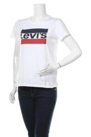 Γυναικείο t-shirt Levi's, Μέγεθος M, Χρώμα Λευκό, Βαμβάκι, Τιμή 18,95€