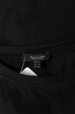 Дамска тениска Massimo Dutti, Размер XS, Цвят Черен, Памук, Цена 21,28лв.