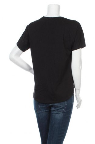 Дамска тениска Massimo Dutti, Размер M, Цвят Черен, Памук, Цена 21,28лв.
