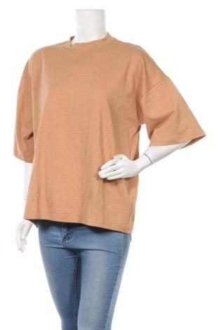 Γυναικείο t-shirt Missguided, Μέγεθος S, Χρώμα Καφέ, 95% βαμβάκι, 5% ελαστάνη, Τιμή 10,05€