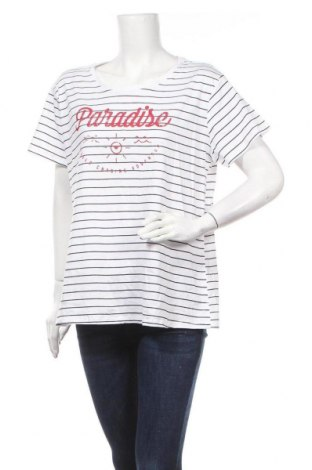 Γυναικείο t-shirt Mix, Μέγεθος XXL, Χρώμα Λευκό, Βαμβάκι, Τιμή 11,04€