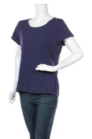 Γυναικείο t-shirt Now, Μέγεθος XXL, Χρώμα Μπλέ, Βαμβάκι, ελαστάνη, Τιμή 9,09€