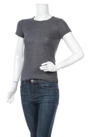 Γυναικείο t-shirt Numph, Μέγεθος S, Χρώμα Γκρί, 85% πολυεστέρας, 15% άλλα υλικά, Τιμή 22,81€