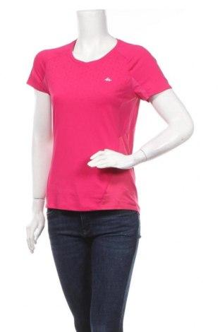 Γυναικείο t-shirt Quechua, Μέγεθος S, Χρώμα Ρόζ , Πολυεστέρας, Τιμή 9,87€