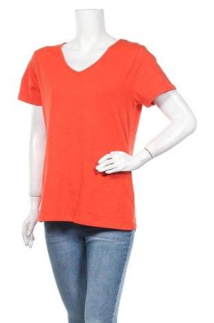 Γυναικείο t-shirt Rivers, Μέγεθος XXL, Χρώμα Πορτοκαλί, 95% βαμβάκι, 5% ελαστάνη, Τιμή 9,09€