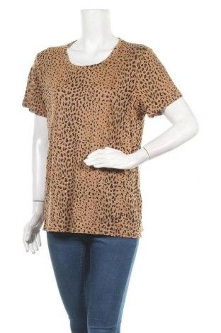 Γυναικείο t-shirt Seed, Μέγεθος XL, Χρώμα Καφέ, Λινό, Τιμή 5,45€