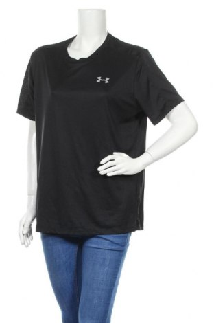 Дамска тениска Under Armour, Размер XL, Цвят Черен, Полиестер, Цена 29,40лв.