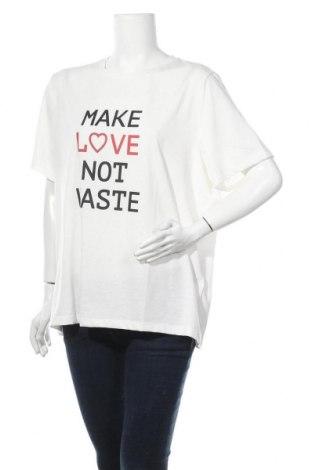 Γυναικείο t-shirt Vero Moda, Μέγεθος 3XL, Χρώμα Λευκό, 75% πολυεστέρας, 13% βαμβάκι, 12% βισκόζη, Τιμή 10,52€