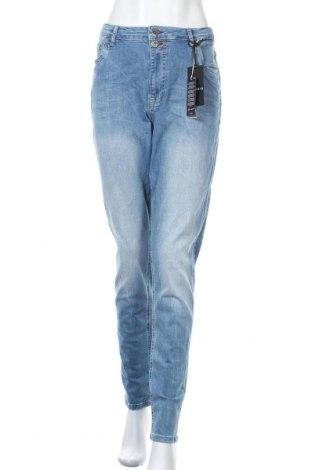 Дамски дънки Blue Fire Co, Размер L, Цвят Син, 90% памук, 7% други тъкани, 3% еластан, Цена 59,50лв.