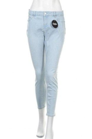 Дамски дънки Buffalo, Размер L, Цвят Син, 97% памук, 3% еластан, Цена 53,72лв.