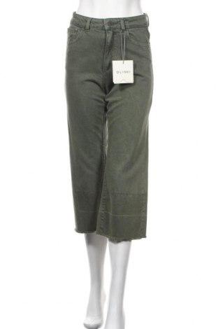 Дамски дънки DL1961, Размер XS, Цвят Зелен, Памук, Цена 40,50лв.