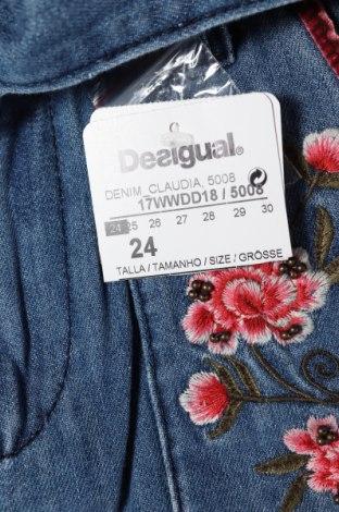 Дамски дънки Desigual, Размер XS, Цвят Син, Памук, Цена 95,40лв.