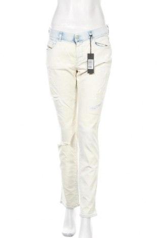 Γυναικείο Τζίν Diesel, Μέγεθος L, Χρώμα Λευκό, 92% βαμβάκι, 7% πολυεστέρας, 1% ελαστάνη, Τιμή 73,18€