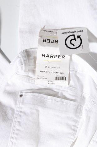 Дамски дънки Dorothy Perkins, Размер M, Цвят Бял, 98% памук, 2% еластан, Цена 23,40лв.