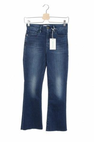 Дамски дънки Frame, Размер S, Цвят Син, 92% памук, 6% полиестер, 2% еластан, Цена 76,32лв.