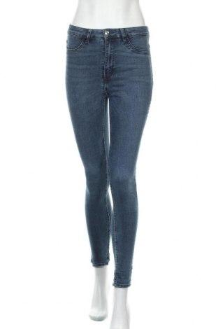 Дамски дънки H&M Divided, Размер S, Цвят Син, 80% памук, 19% полиестер, 1% еластан, Цена 27,00лв.