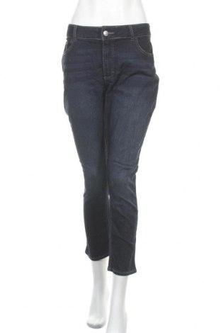 Дамски дънки Lee, Размер XL, Цвят Син, 55% памук, 24% вискоза, 19% полиестер, 2% еластан, Цена 20,48лв.