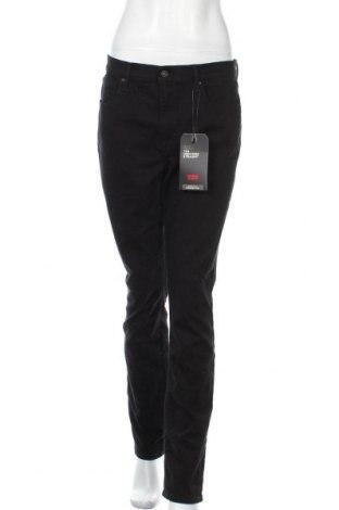 Дамски дънки Levi's, Размер L, Цвят Черен, 62% памук, 28% вискоза, 8% полиестер, 2% еластан, Цена 108,12лв.