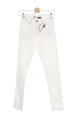 Дамски дънки Levi's Made & Crafted, Размер XS, Цвят Бял, 95% памук, 4% полиестер, 1% еластан, Цена 63,84лв.