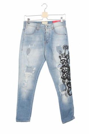 Дамски дънки Met, Размер XS, Цвят Син, 98% памук, 2% еластан, Цена 66,24лв.
