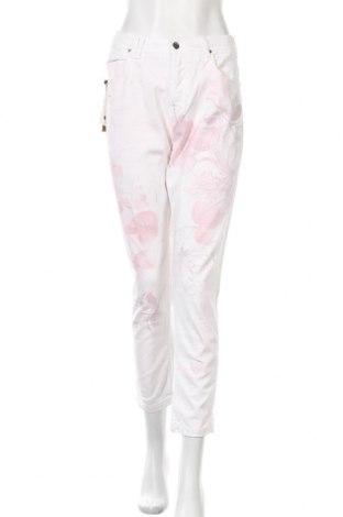 Дамски дънки Met, Размер L, Цвят Бял, 97% памук, 3% еластан, Цена 69,00лв.