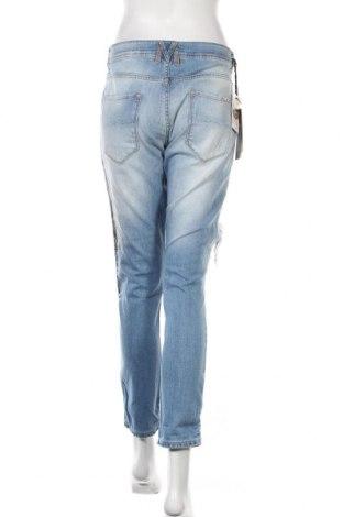 Дамски дънки Met, Размер L, Цвят Син, 98% памук, 2% еластан, Цена 66,24лв.
