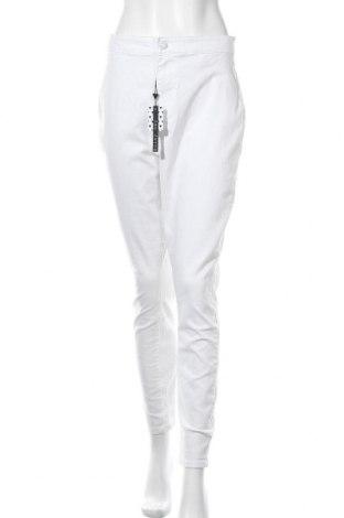 Γυναικείο παντελόνι Noisy May, Μέγεθος XL, Χρώμα Λευκό, 63% βαμβάκι, 33% πολυεστέρας, 2% βισκόζη, 2% ελαστάνη, Τιμή 20,10€