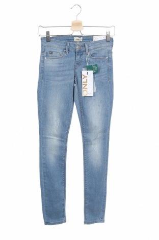 Дамски дънки ONLY, Размер XS, Цвят Син, 84% памук, 14% полиестер, 2% еластан, Цена 39,44лв.