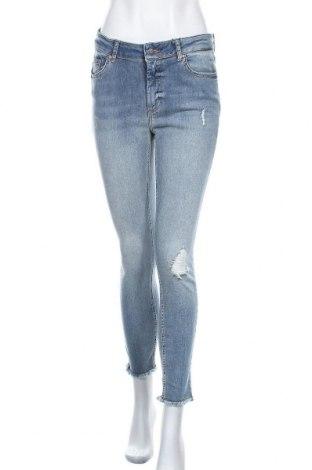 Дамски дънки ONLY, Размер L, Цвят Син, 92% памук, 8% еластан, Цена 51,75лв.