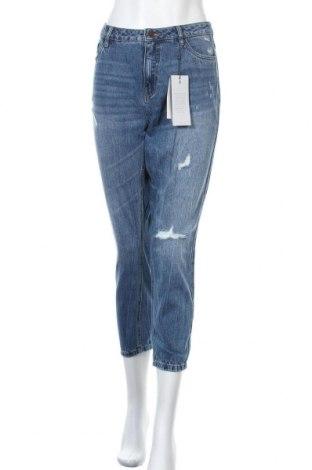 Дамски дънки ONLY, Размер XL, Цвят Син, 100% памук, Цена 59,25лв.