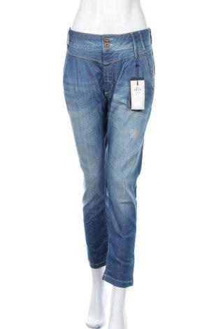Дамски дънки ONLY, Размер L, Цвят Син, 98% памук, 2% еластан, Цена 66,75лв.