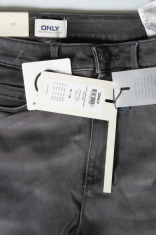 Дамски дънки ONLY, Размер S, Цвят Сив, 60% памук, 39% полиестер, 1% еластан, Цена 24,96лв.